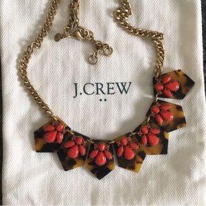 J.CREW Jeweled Tortoise Statement Necklace
